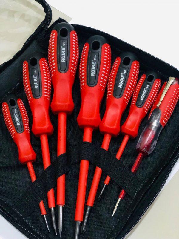 ไขควงกันไฟ RUIKE 7 ตัวชุด(ด้ามแดง) 1
